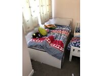 Ikea single bed with 2 drawers