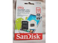 SanDisk Ultra microSDXC UHS Memory Card with adapter 128GB with adapter *BRAND NEW*