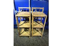 Pair of wicker side tables FREE DELIVERY PLYMOUTH AREA