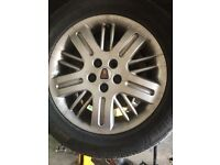Rover 75 16 inch union alloy wheels and tyres - breaking