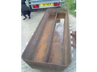 Large cast iron trough / garden planter. Cam / Dursley