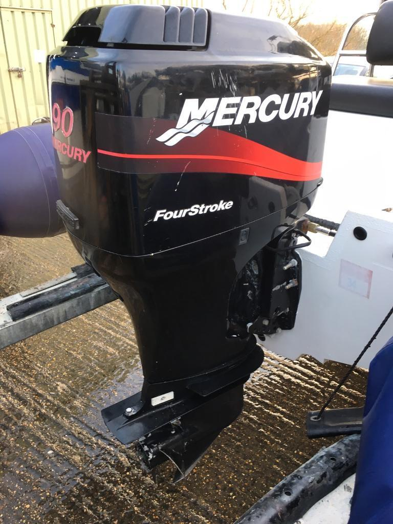 90hp mercury four stroke outboard engine | in Bembridge, Isle of Wight |  Gumtree