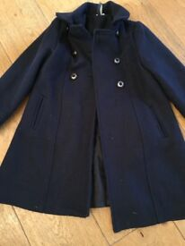Lovely navy coat with wool - 6Y