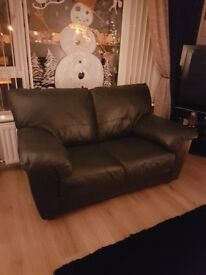 Leather 3 and 2 sofa