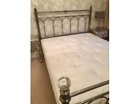 Silver & Crystal Kingsize Bed & Mattress