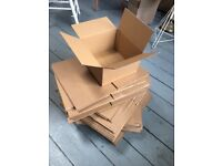 Cardboard boxes x 100. Small square. w257 x d257 x h155