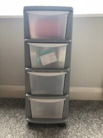 Wheeled Plastic Chest of Drawers
