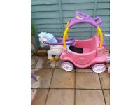 Little tikes pink princess carriage