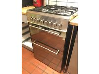 Delonghi 60cm Dual-Fuel Cooker. Gas hob, electric oven and grill