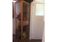 Tall Storage Unit, Two Doors & Drawers, Glass Shelves.VGC
