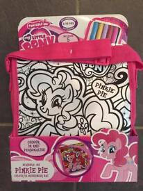 My Little Pony Scribble Me Pinkie Pie Messenger Bag, brand new in box