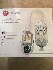 Motorola digital video baby monitor (brand new)