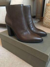 Women's AllSaints Iris Leather Boots size UK 4/EU 37 - brand new with box