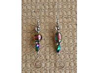 2 Iridescent Purple Icicle Danglies Christmas Tree Decorations Xmas