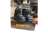 Safety Boots, New, Size 9, Beaver
