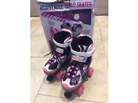 Adjustable quad skates boots size 1-3