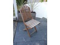 Hardwood wooden chairs x 4
