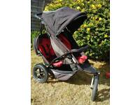 Phil & Ted explorer double buggy, red and black from a smoke pet free home.