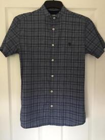 Mens blue and white river island shirt size xxs