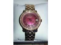 Ladies Rose Gold Plated Rotary Bracelet Watch
