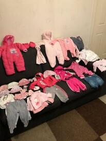 Newborn / 0-3 / 3-6 / 6-9 Baby Girl Clothes Bundle - Adidas + Other Makes