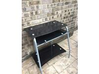 Compact computer table with slide out keyboard drawer