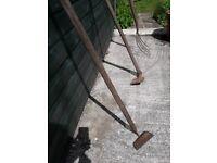 3 old garden tools