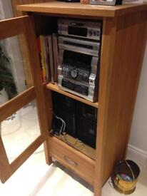 Laura Ashley Milton Hifi/Media Unit solid oak