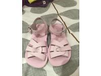 Sun San girls shoes sandal pale pink