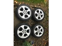 "17"" Golf GTI GTD Monza Alloys 5X112 with Tyres"