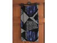 Topshop multi-patterned pencil skirt size 6/8