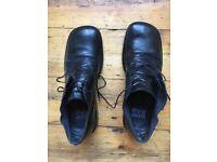 Cesare Paciotti black leather shoes size 10