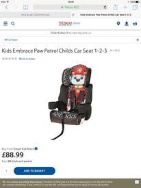 PAW PATROL CAR SEAT