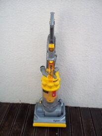 DYSON DC14 YELLOW UPRIGHT BAGLESS VACUUM, FULLY CLEANED, WITH TOOLS