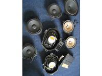 8 car speakers , harman kardon / vauxhall , karmann , amplifier , subwoofer/ 3series bmw e46