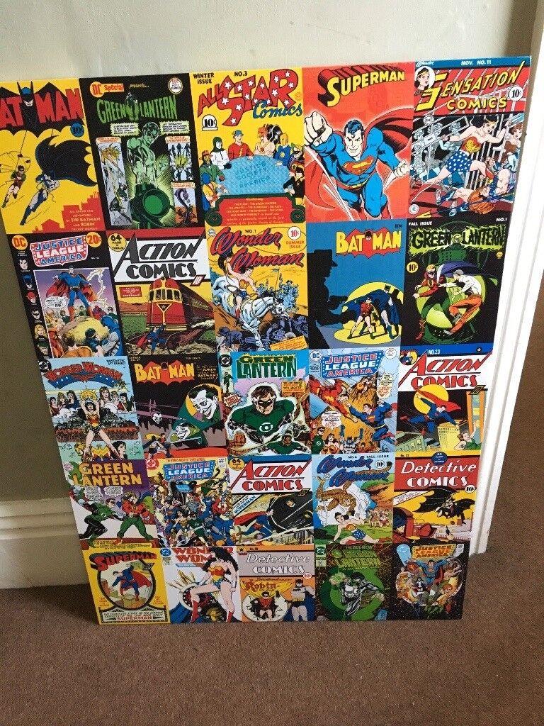 RETRO 'DC COMICS' CANVAS!!