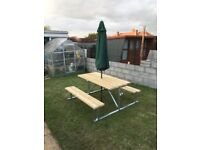 Galvanised Picnic Table made to order ideal for garden, patio, beer gaeden etc. seats 6 comfortably.