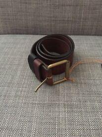 Nudie Jeans Johannesson distressed belt - Brown