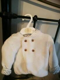 M&S white jacket with hood