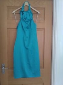 Karen Millen Green halterneck dress size 14