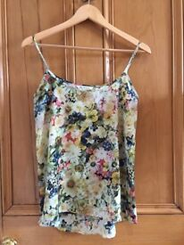 Miss Selfridge Floral Cami - Size 8