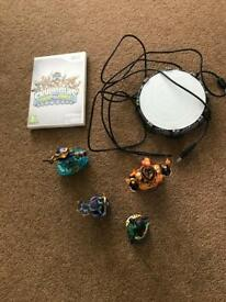 Wii sky lander game and figures