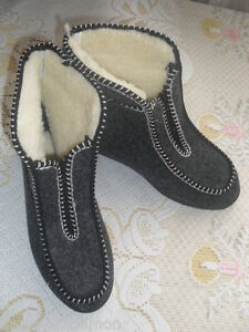 BOOTS felt, sheepskin slippers front zip for easy insertion Sizes EU36-46UK3-11 - <span itemprop='availableAtOrFrom'>Kety, Polska</span> - Zwroty są przyjmowane - Kety, Polska