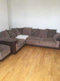 Dfs corner sofa & storage door stool
