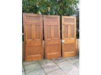 """reclaimed varnished victorian internal door 30"""" x 77"""""""