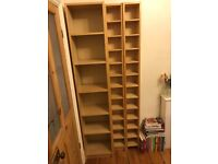 1xBook case and 2x CD shelving units (wood veneer)