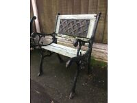 Cast Iron Lattice Backed Garden Chair For Restoration- DELIVERY/COLLECTION WIGAN