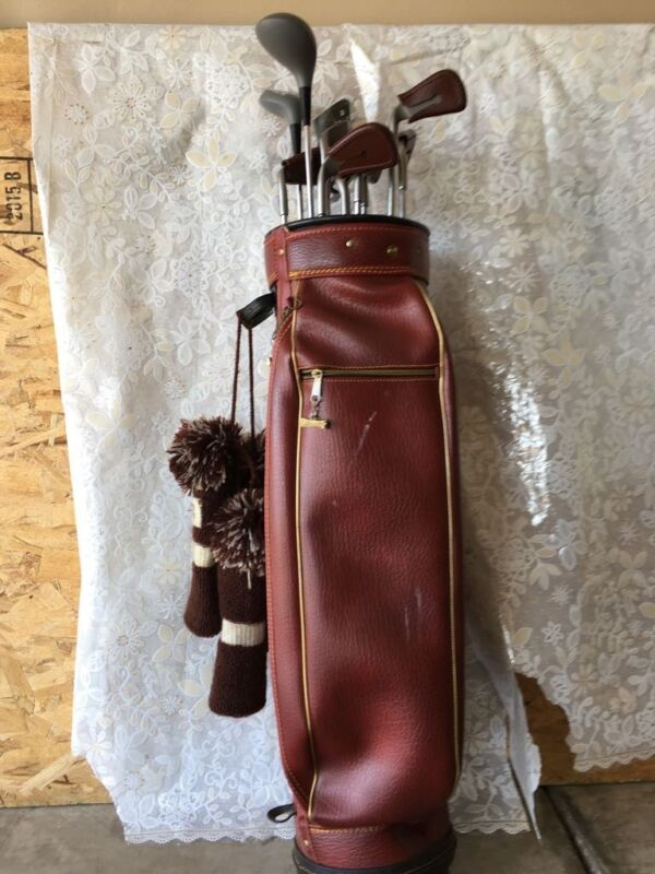 Spalding Golf Bag leather -vintage  -Very Good Condition