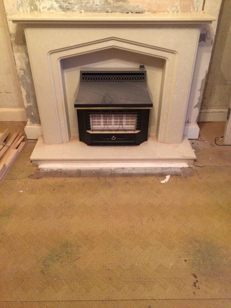 Composite Marble Fireplace, Excellent Condition