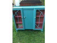 Antique Blue Cabinet for sale